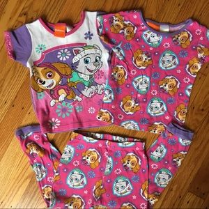 Paw Patrol PJs featuring Sky and Everest!